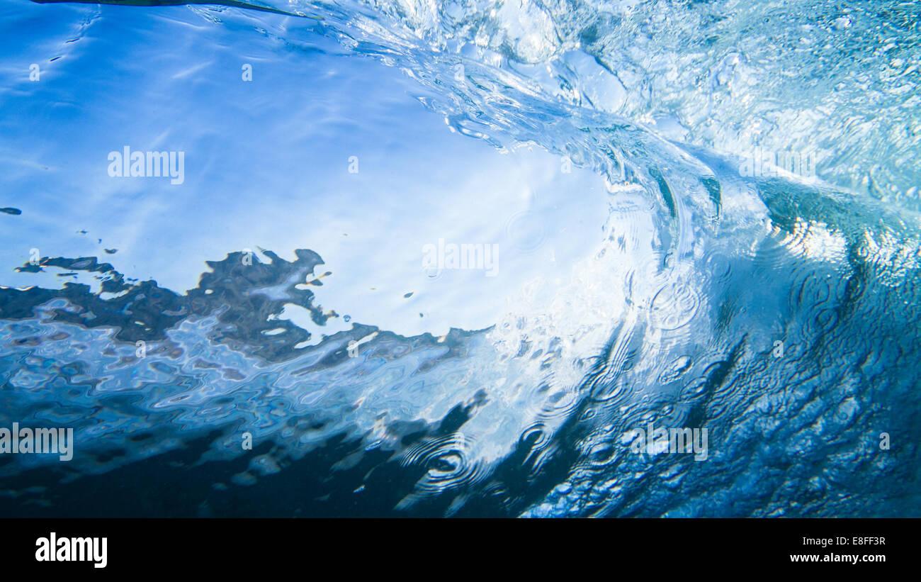 Close-up di un'onda Immagini Stock
