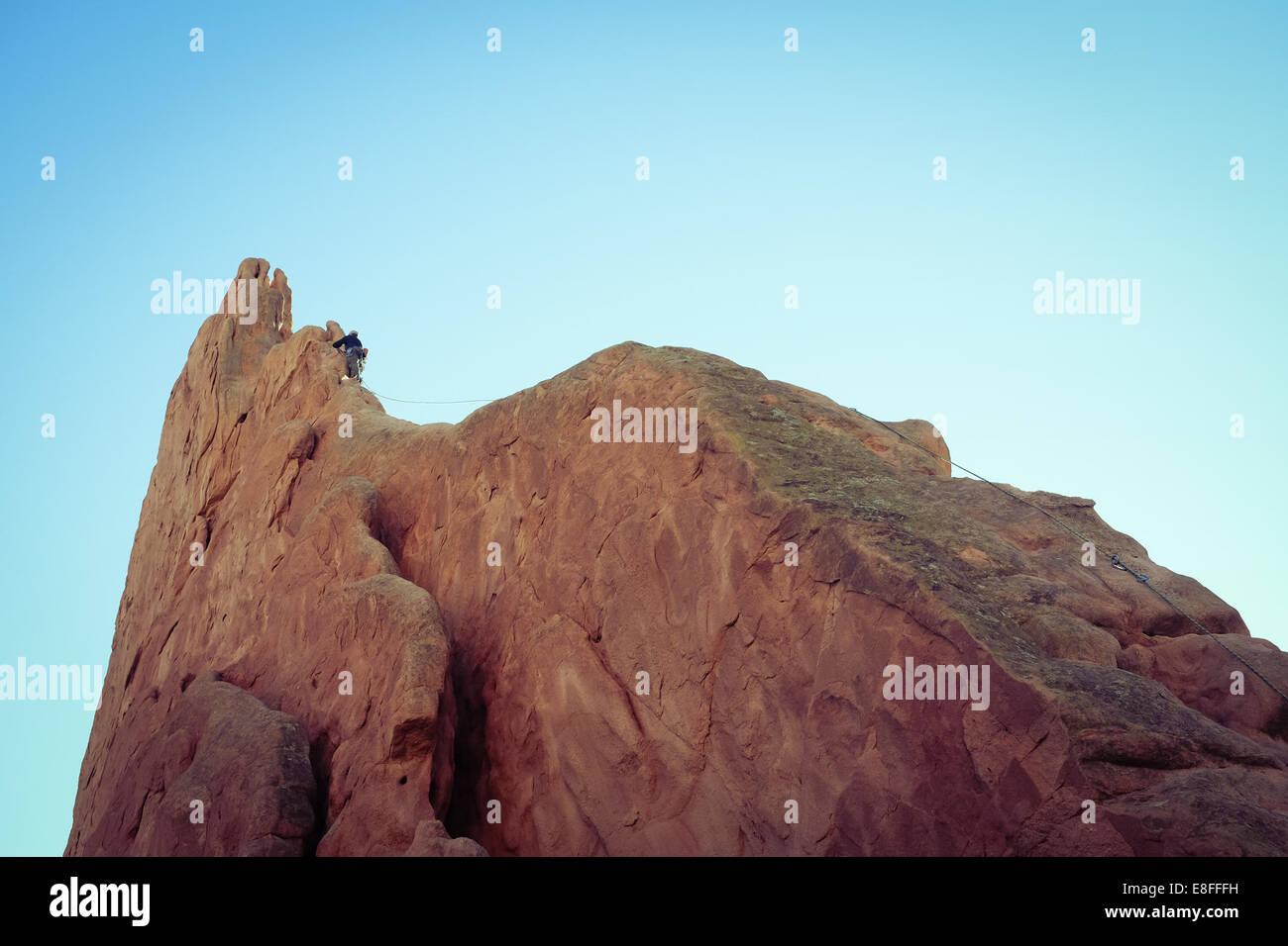 L'alpinista Immagini Stock