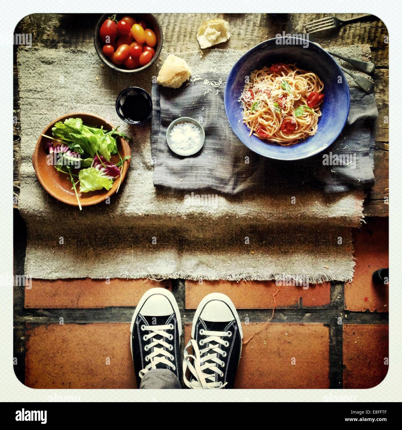 Fotografare il cibo Immagini Stock