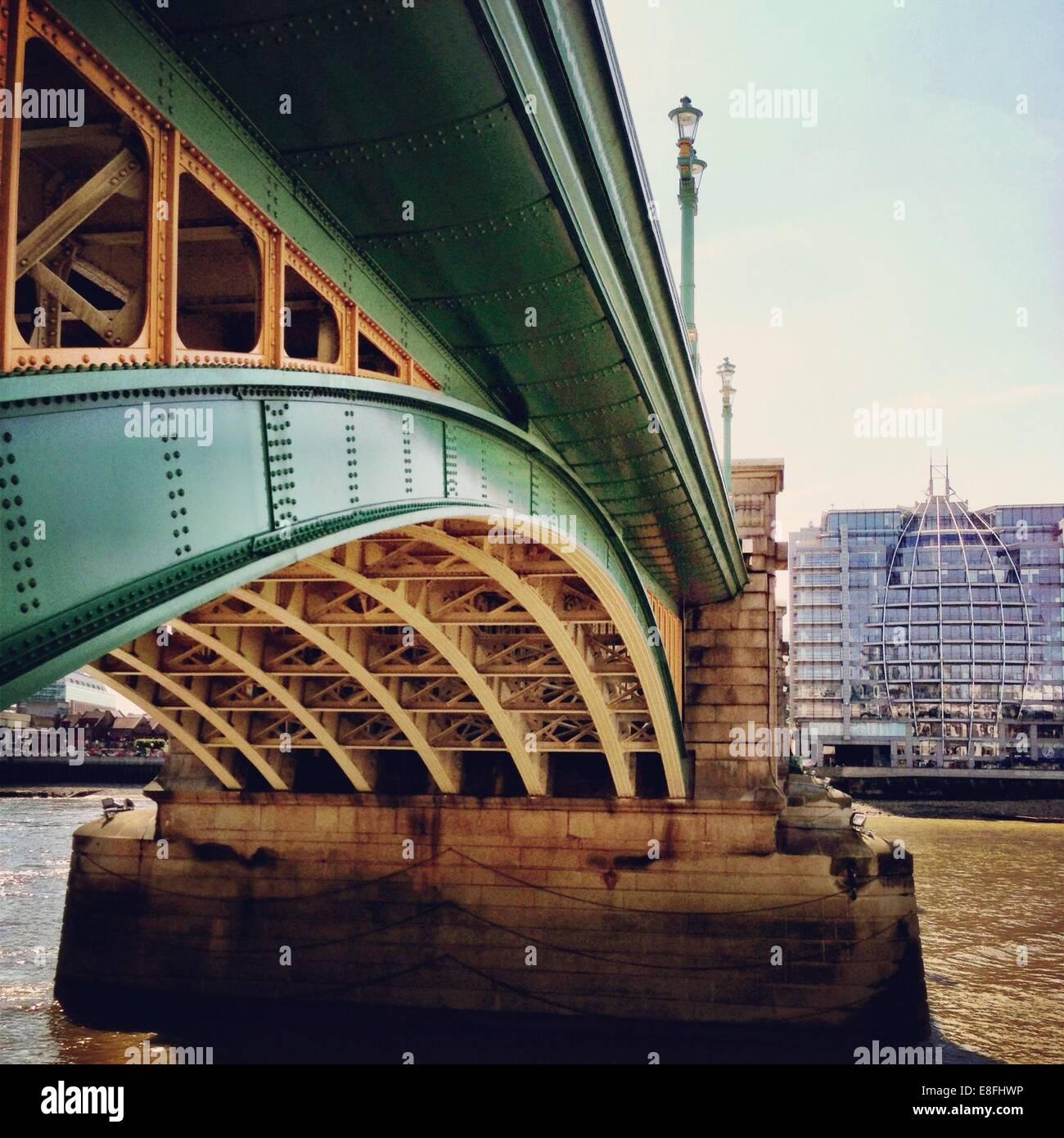 Regno Unito, London, Greater London, Southwark Bridge Immagini Stock
