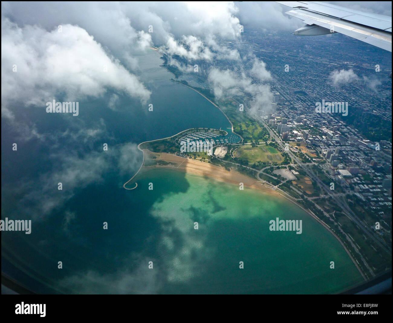 Stati Uniti d'America, Illinois, Chicago, veduta aerea della città Immagini Stock