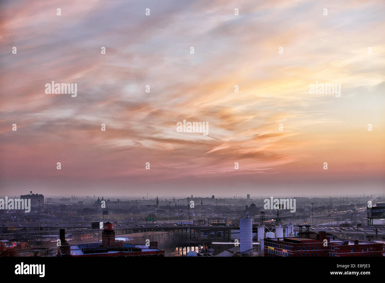Stati Uniti d'America, Illinois, Chicago, vista sulla città Immagini Stock