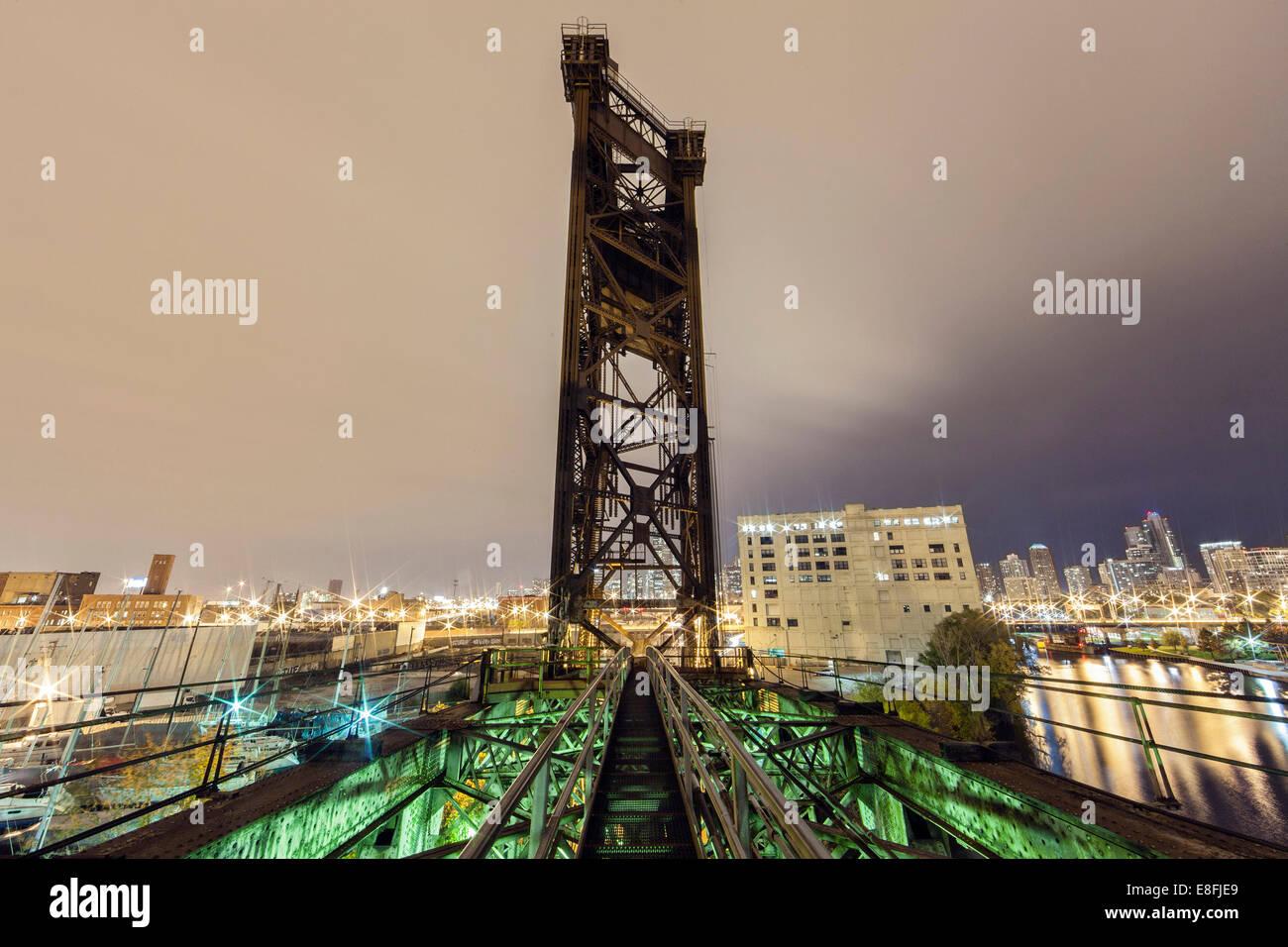 Stati Uniti d'America, Illinois, Contea di Cook, Chicago, Chinatown Bridge Immagini Stock