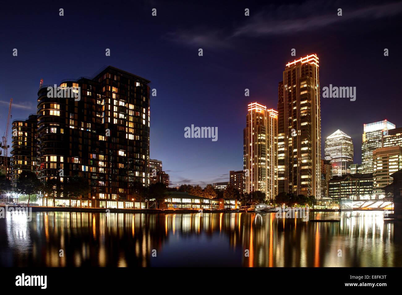 Londra, UK Canary Wharf Foto Stock