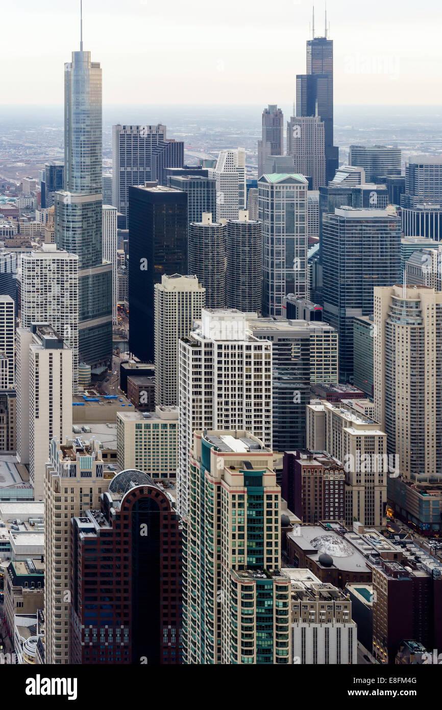 Chicago, Illinois, Stati Uniti d'America sullo skyline di Chicago Immagini Stock