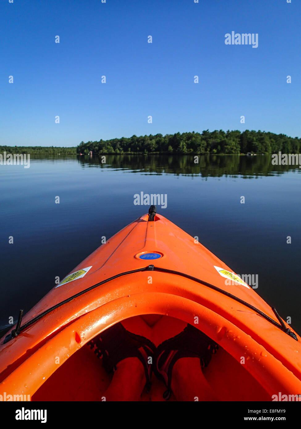 Kayak sul lago Immagini Stock