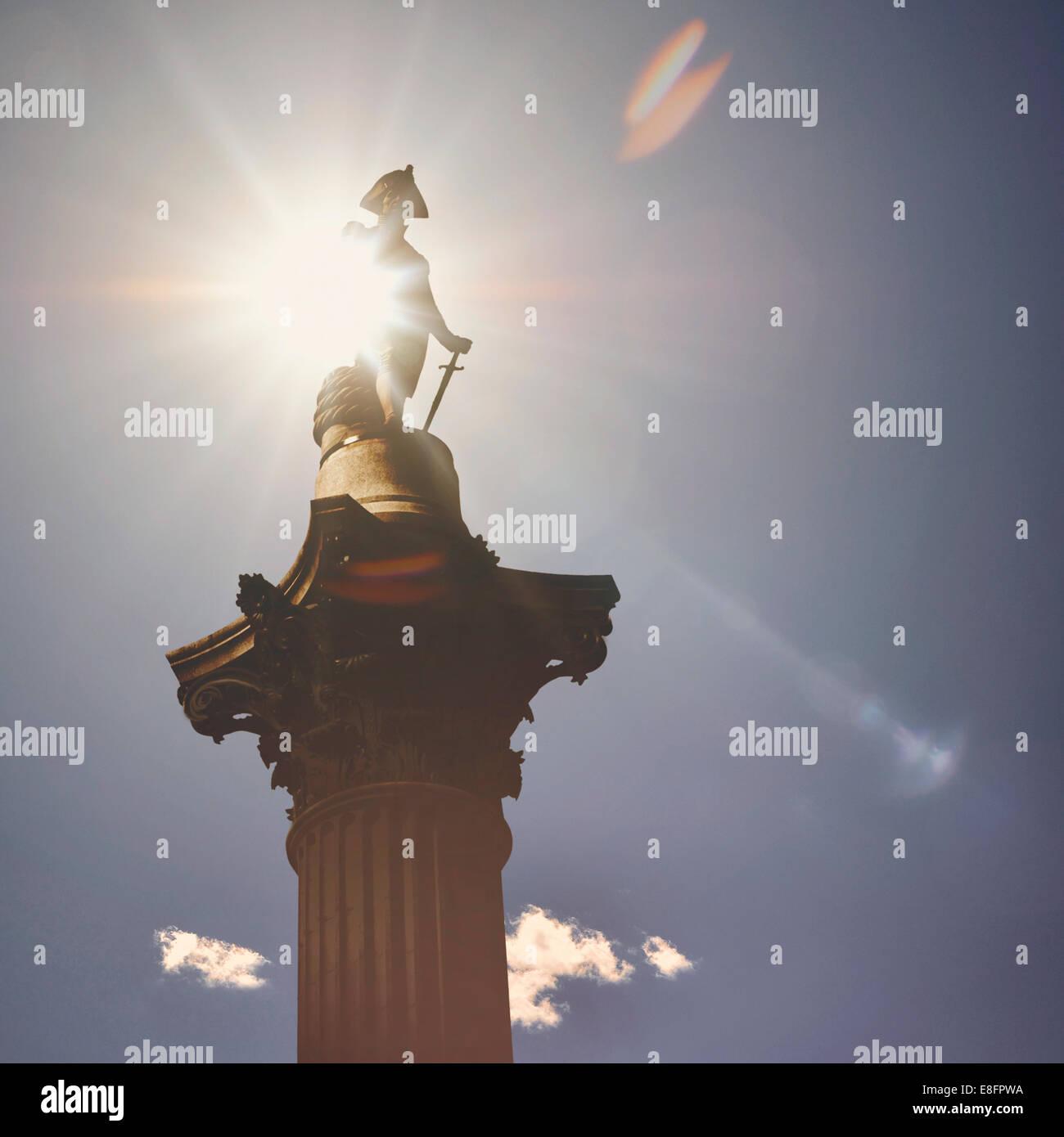 Regno Unito, Londra, la vista della Colonna di Nelson, Immagini Stock