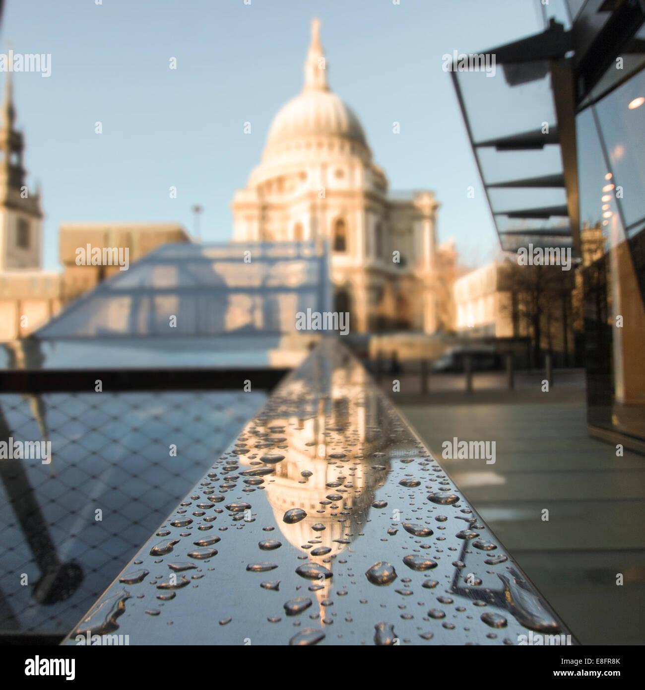 Regno Unito, Londra, vista della Cattedrale di St Paul Immagini Stock
