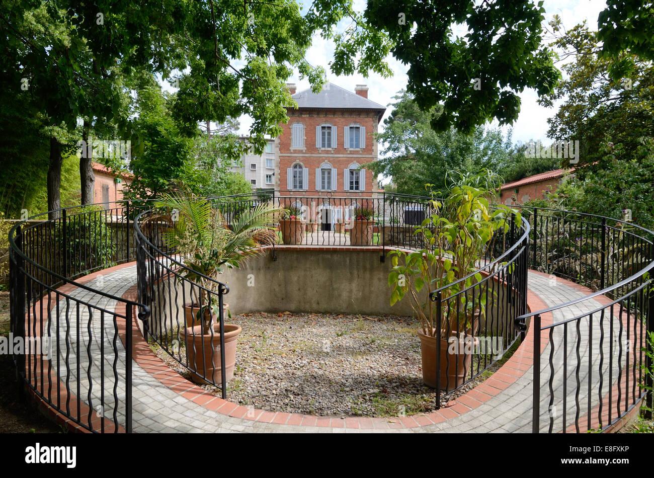 Château e percorso circolare Parco Borely e giardino marsiglia francia Immagini Stock
