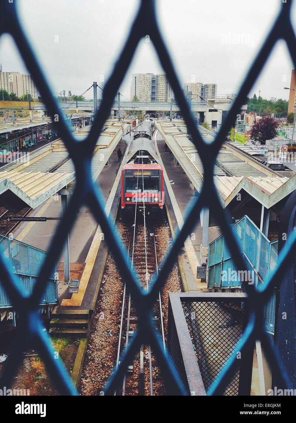 Francia, stazione ferroviaria Immagini Stock