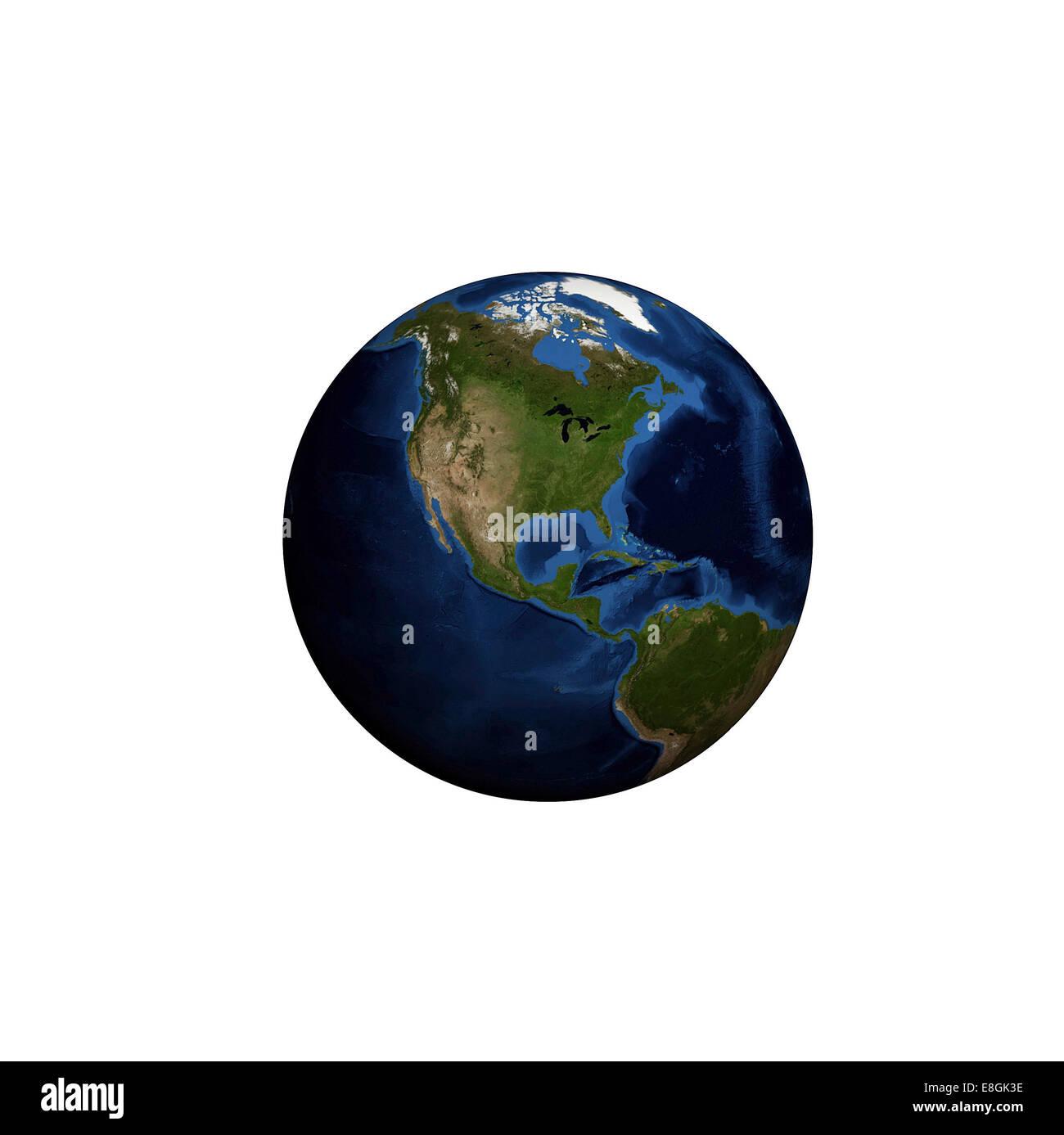 Generati digitalmente immagine del pianeta terra Immagini Stock