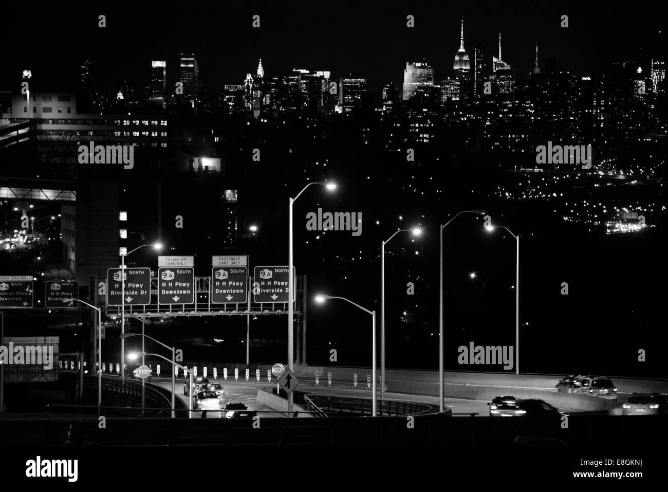 La città di New York, New York, Stati Uniti d'America lasciare o arrivare, questa città è la Immagini Stock