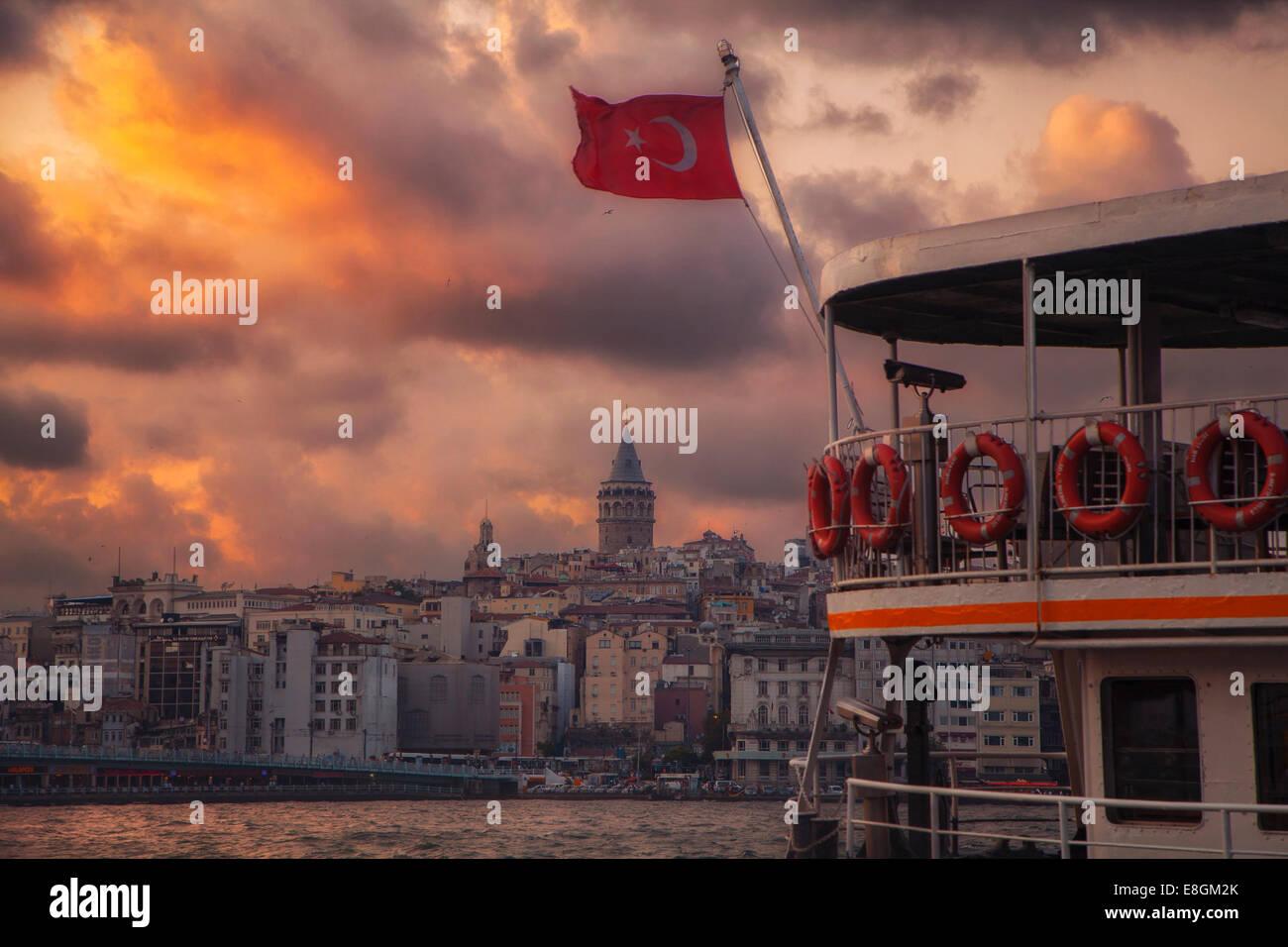 Turchia, Istanbul, Torre Galata Immagini Stock