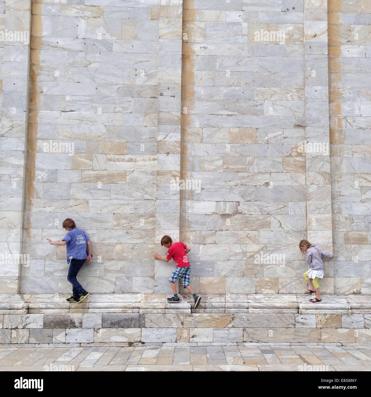 L'Italia, Toscana, Pisa, tre avventurieri (10-11, 12-13) Immagini Stock