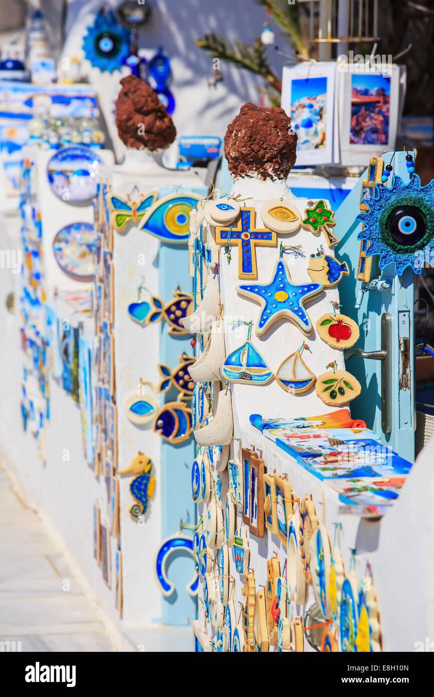 Santorini Grecia Foto Stock