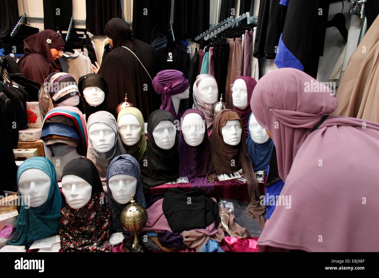Musulmani fiera commerciale Immagini Stock