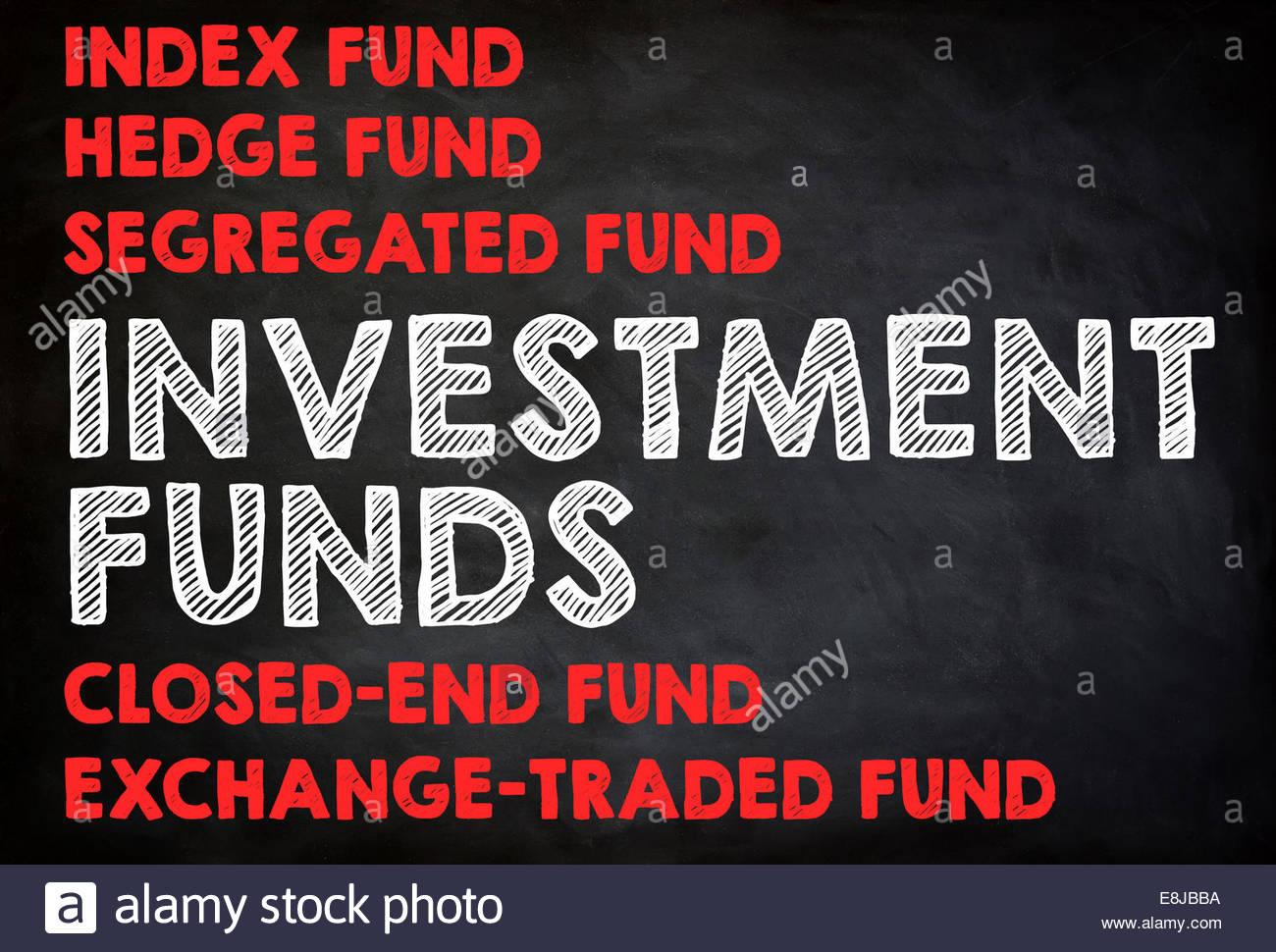 Fondi di investimento - Concetto di lavagna Immagini Stock
