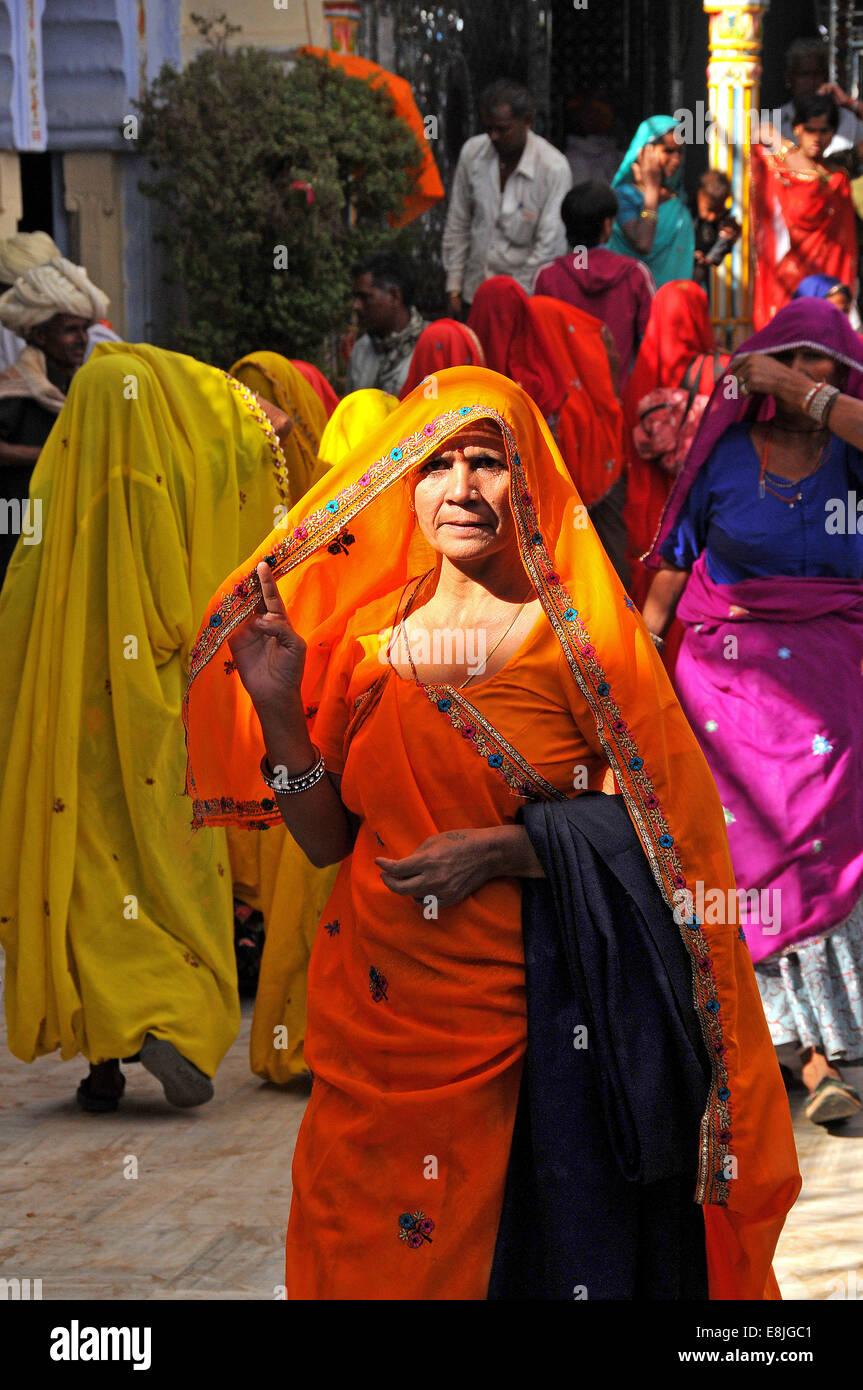 Donna di Rajasthani. Immagini Stock