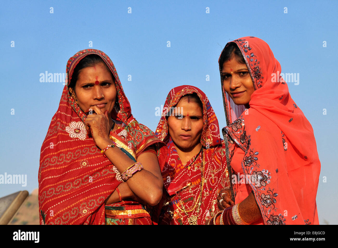 Le donne di Rajasthani. Immagini Stock