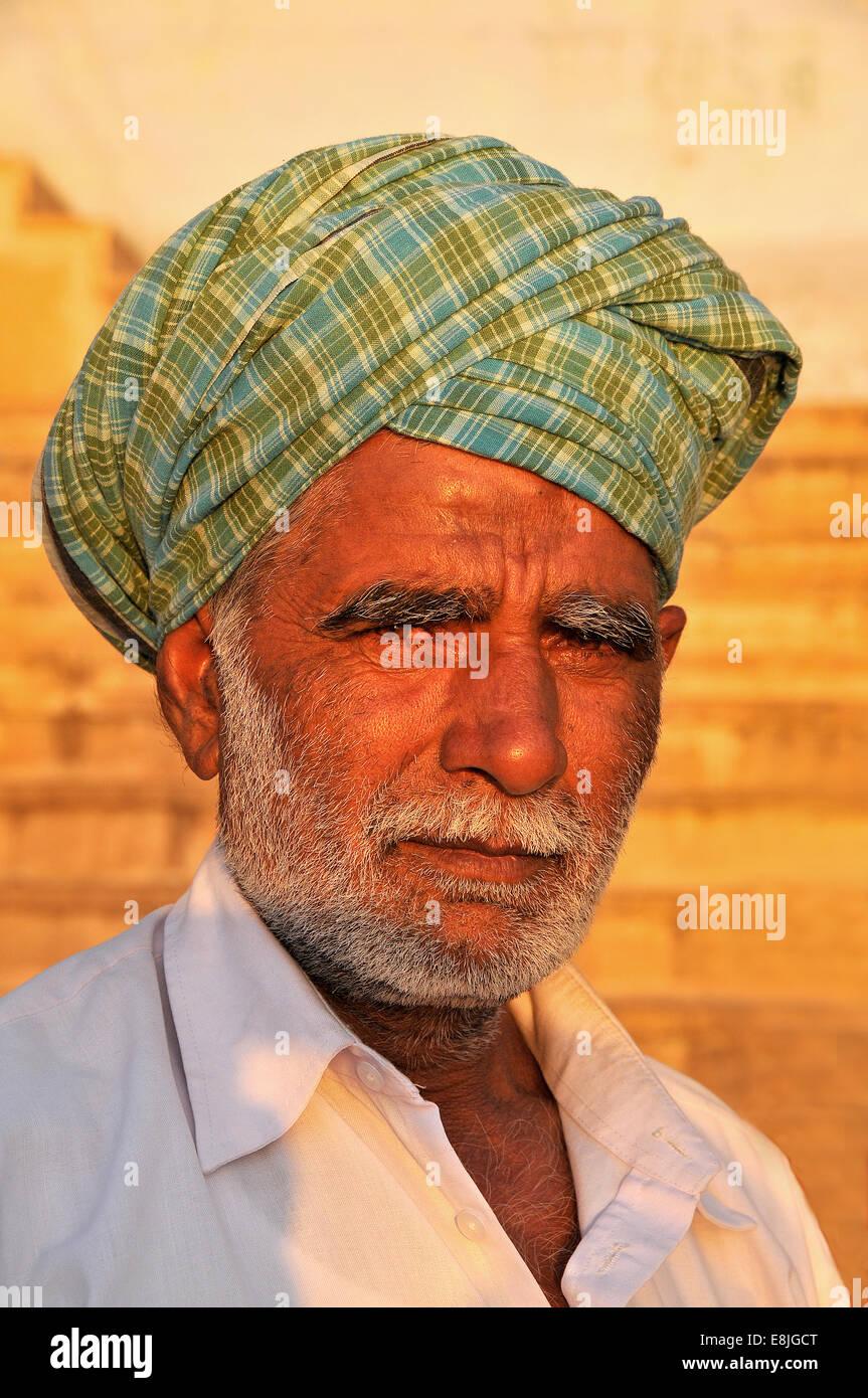 Uomo di Rajasthani. Immagini Stock