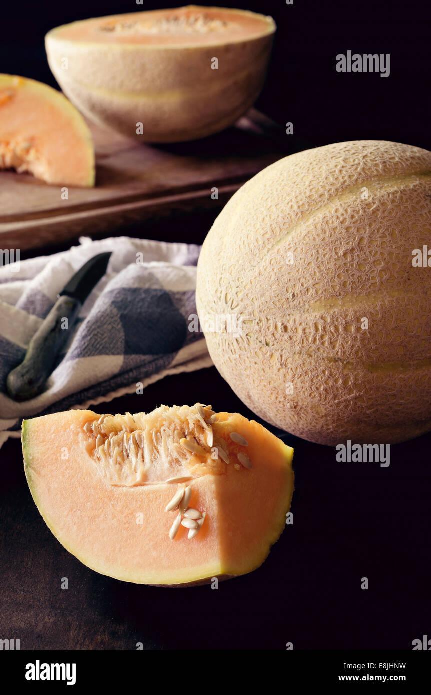 Melone Canteloupe Immagini Stock