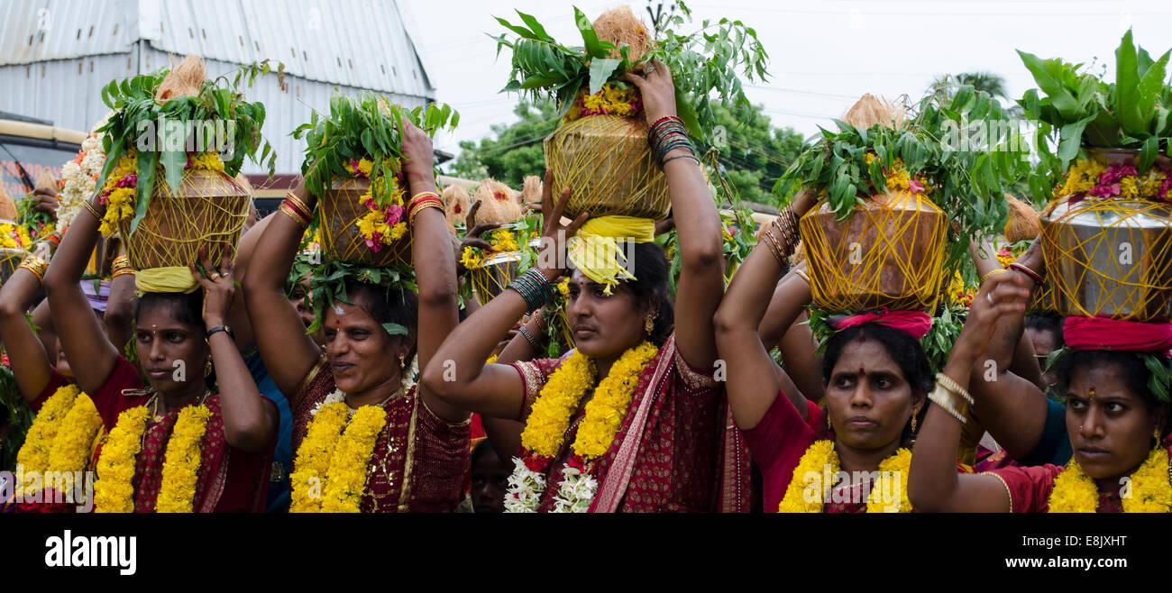 La cultura indiana & Tradizione, Mamallapuram, Mahabalipuram Immagini Stock
