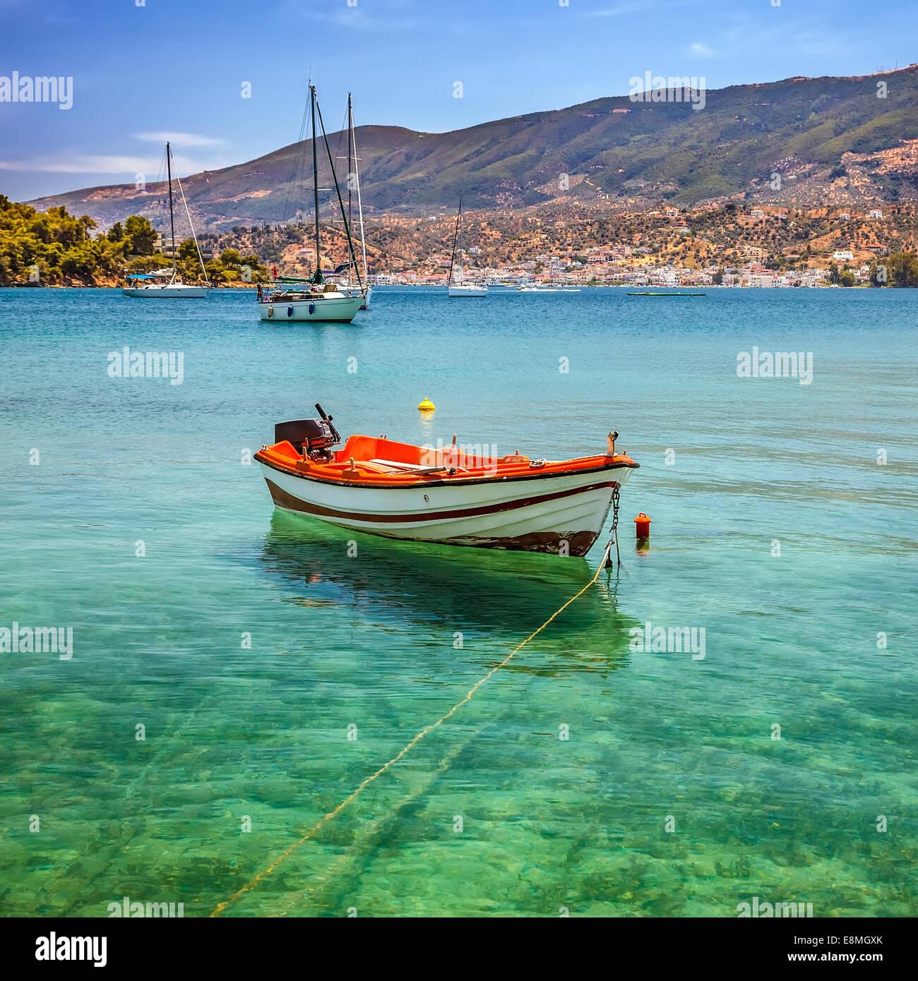 Barca da pesca, Grecia Immagini Stock