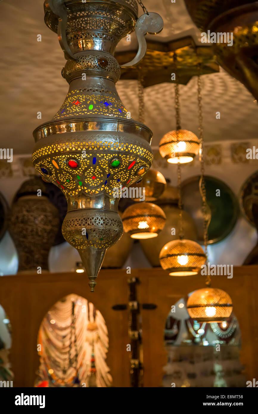 Lampade Orientali Sul Mercato Di Marrakech Foto Immagine Stock