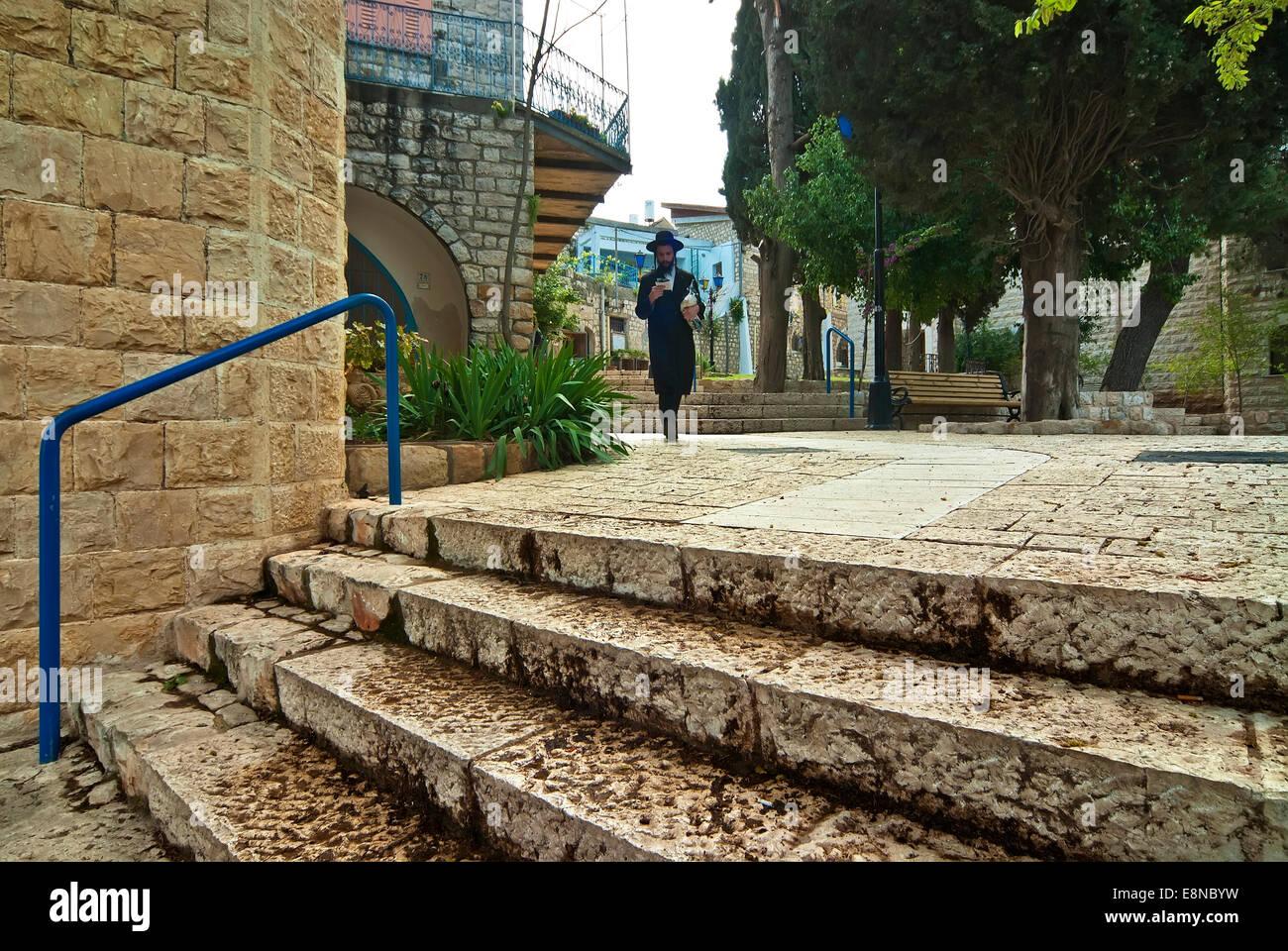 Uomo religioso in Safed, Israele Immagini Stock
