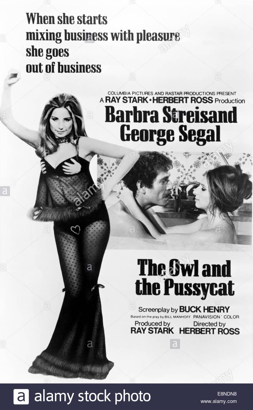 La civetta e la PUSSYCAT (1970) - Barbra Streisand, George Segal. Immagini Stock