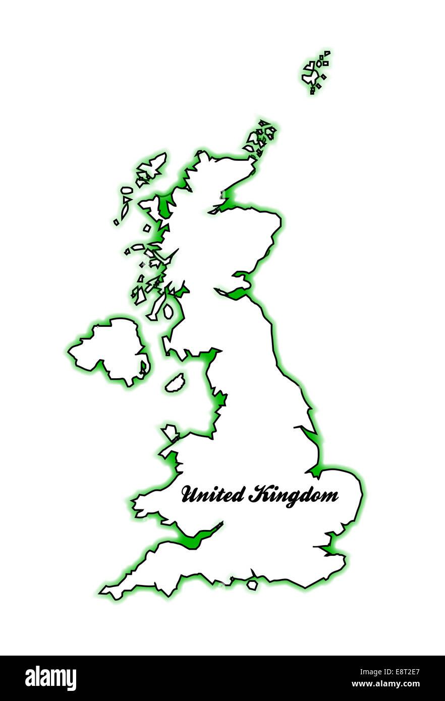 Cartina Geografica Inghilterra E Scozia.Mappa Di Contorno Del Regno Unito Di Inghilterra Scozia Irlanda Del Nord E Il Galles Su Bianco Foto Stock Alamy