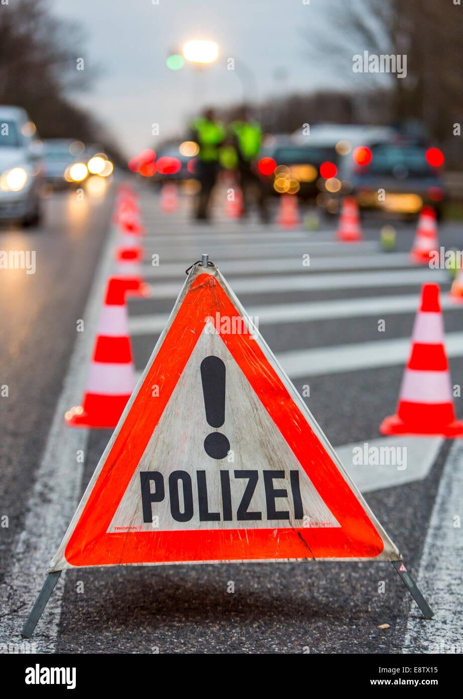 Controllo del traffico della polizia Immagini Stock