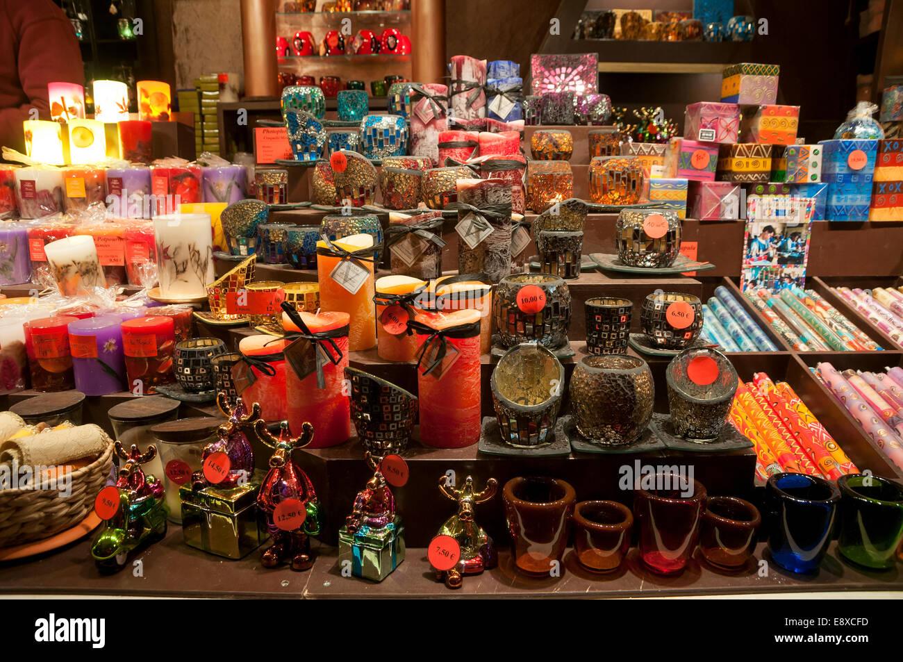 Candele al mercatino di Natale a Parigi Immagini Stock