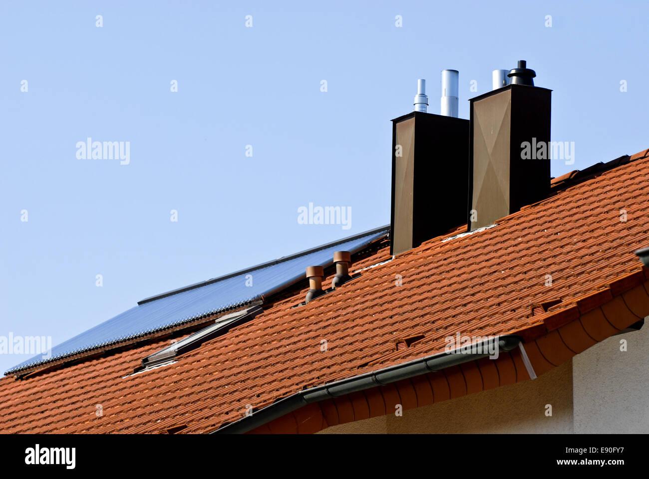 Nuova costruzione con energia solare Foto Stock