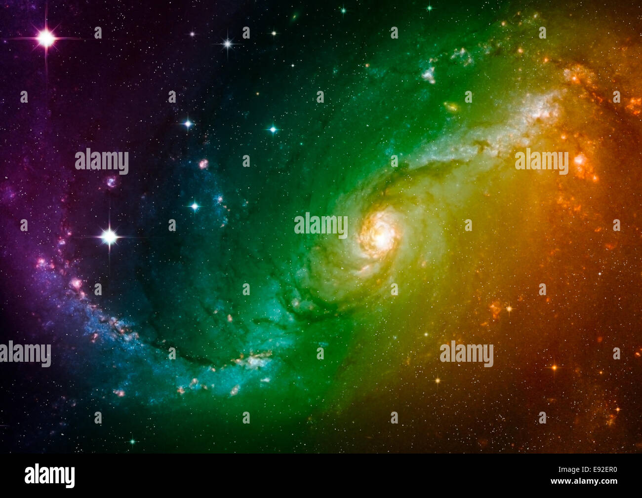 Spazio stelle e nebula Immagini Stock
