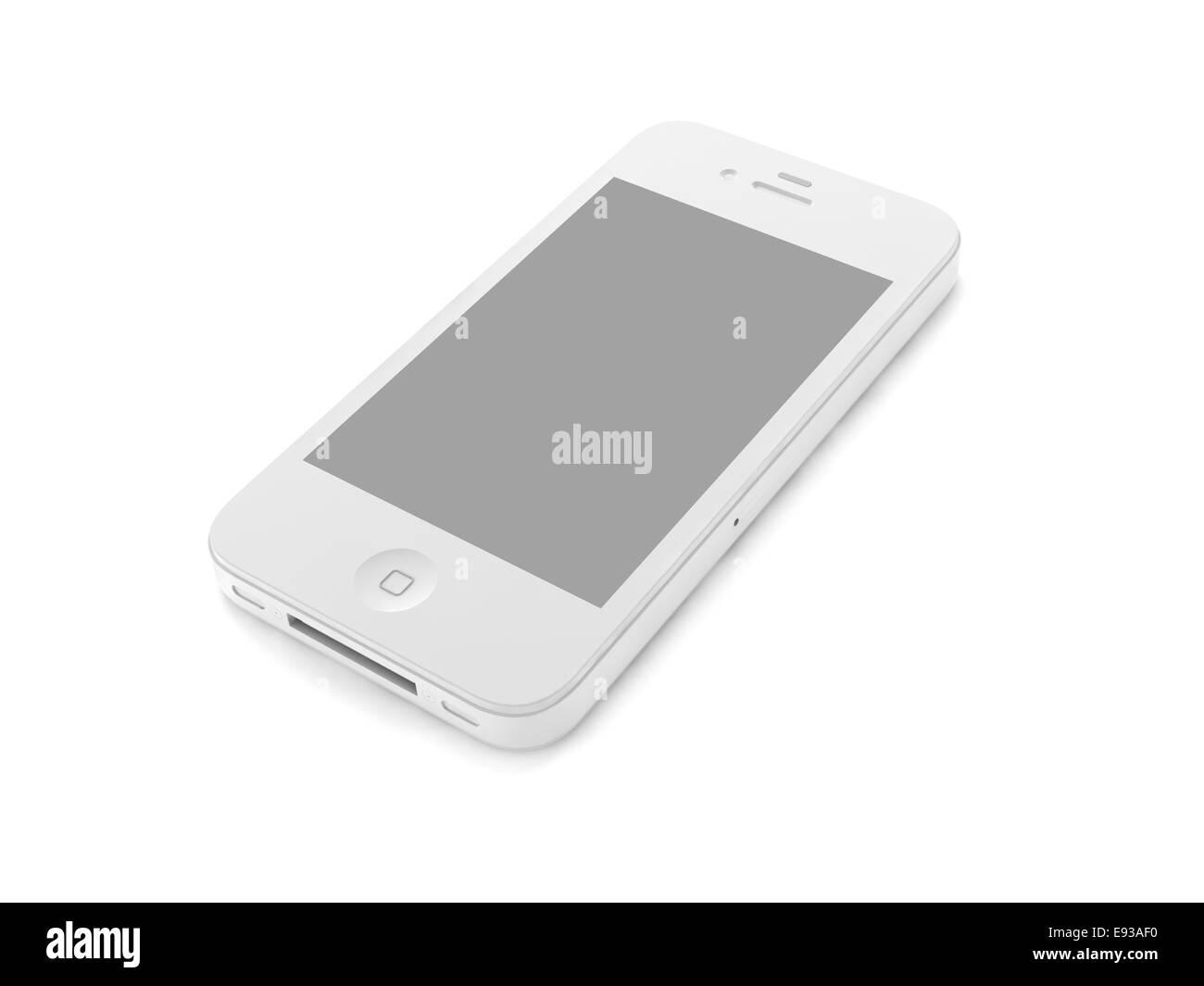 3d Modello Di Telefono Cellulare Su Sfondo Bianco Foto Immagine
