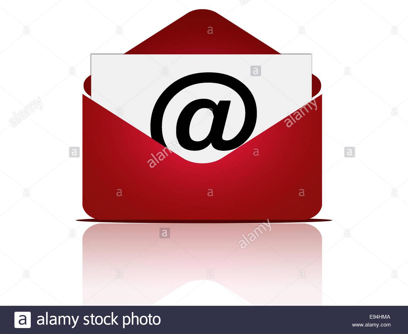 Messaggio di posta elettronica con busta Immagini Stock