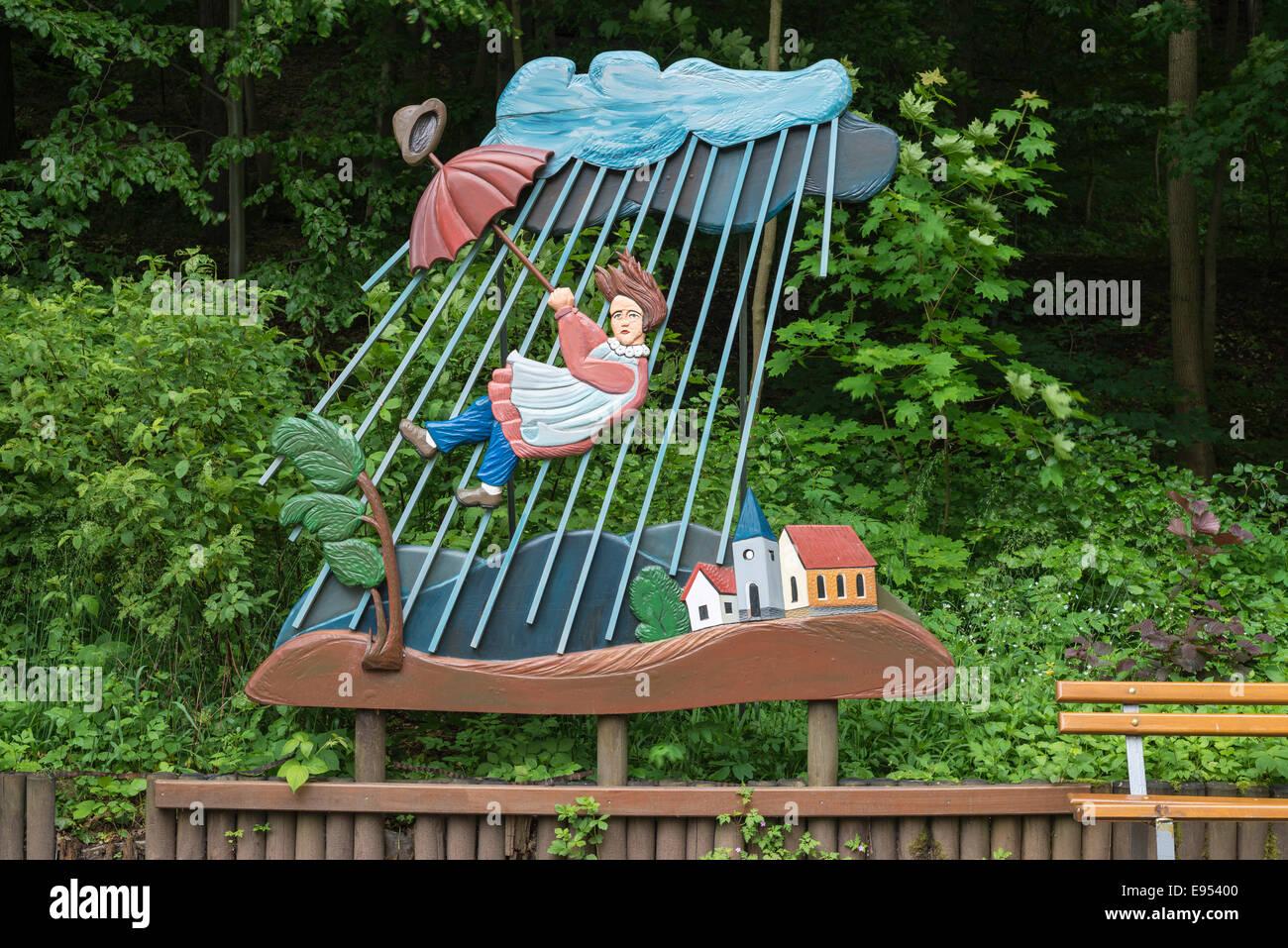 """Carattere da """"La storia di Flying Robert"""", dalla """"truwwelpeter' libro per bambini da Heinrich Immagini Stock"""