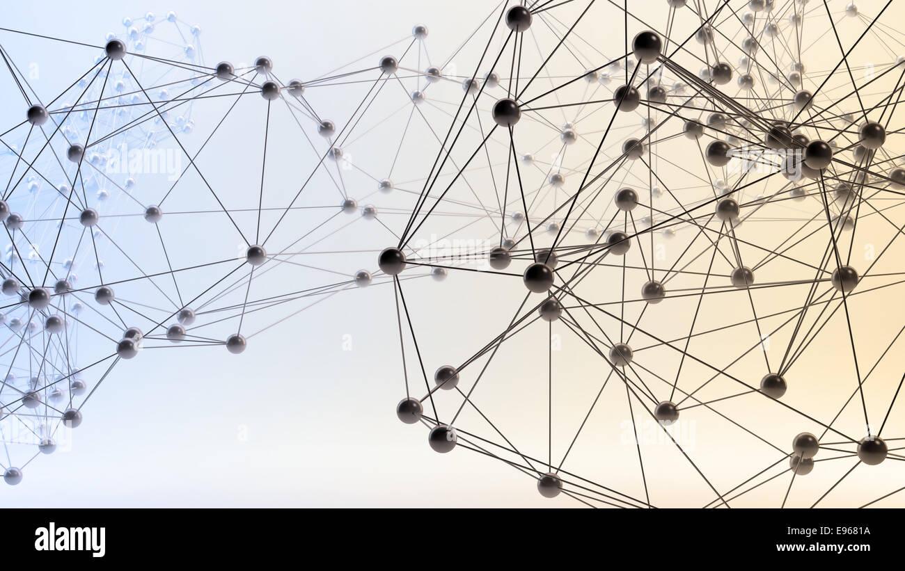 Abstract 3D reti - comunicazione e il concetto di internet Immagini Stock