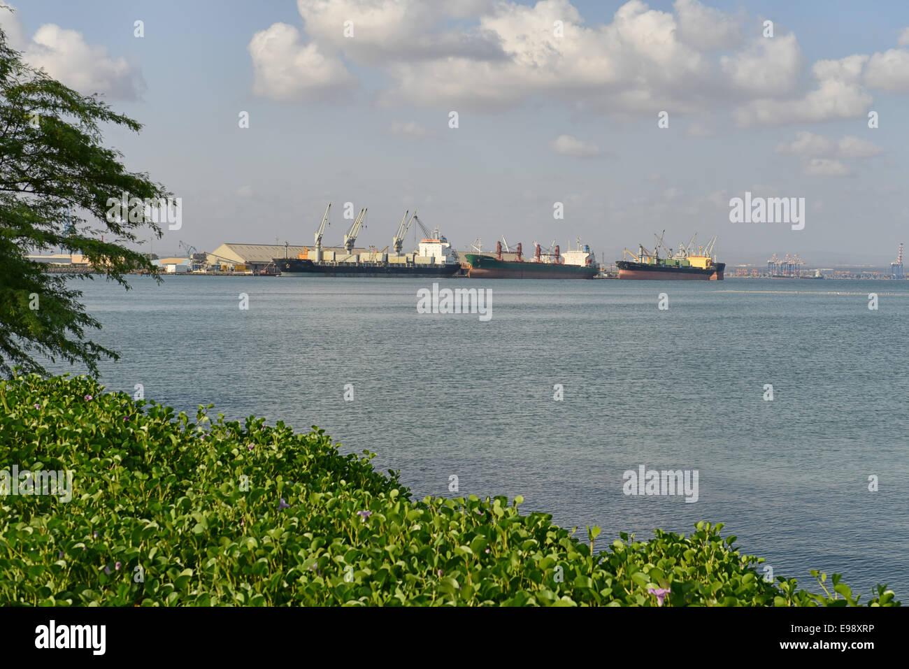 Porto di Gibuti, Gibuti Immagini Stock