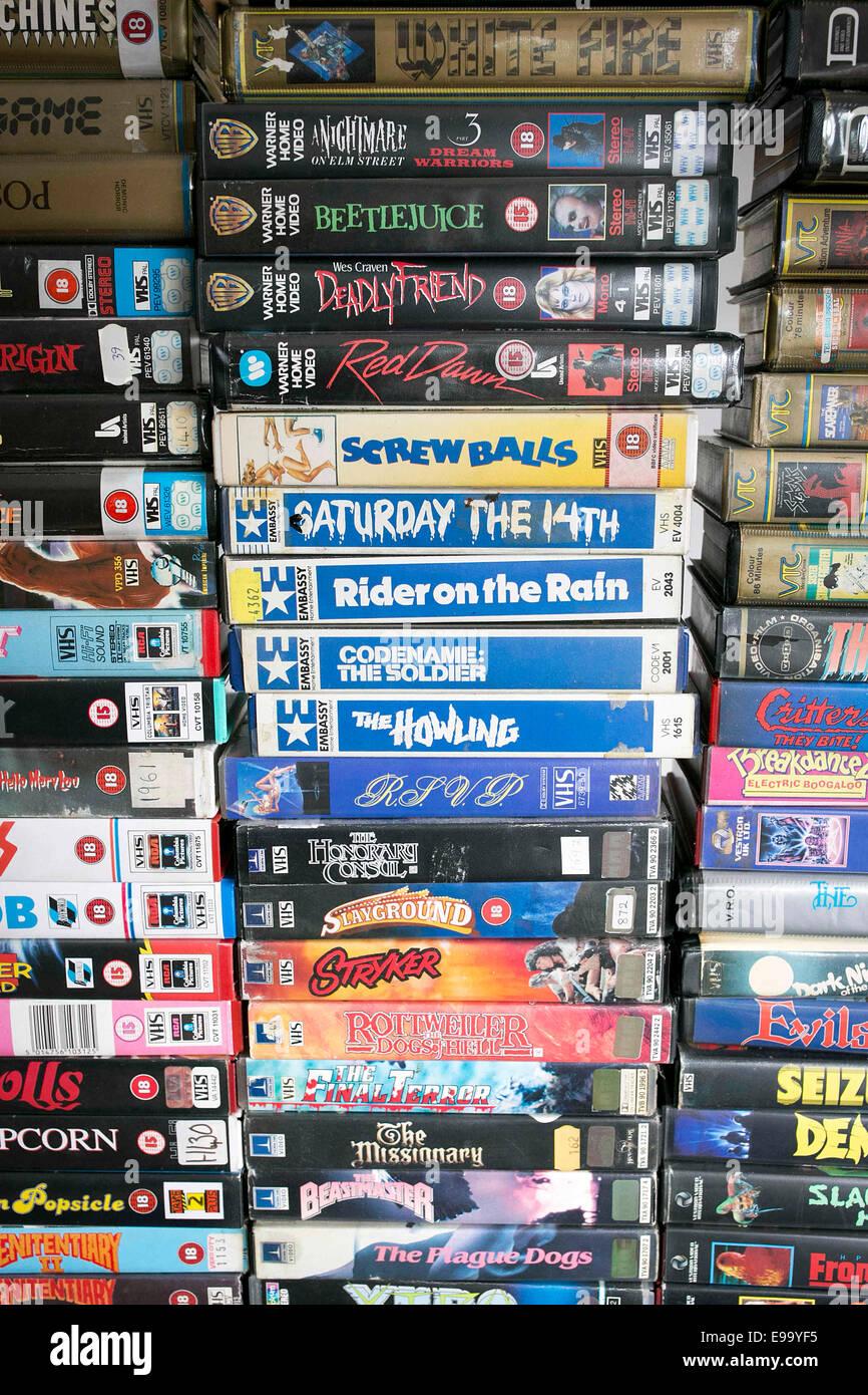 70s e 80s cult video compresi Immagini Stock