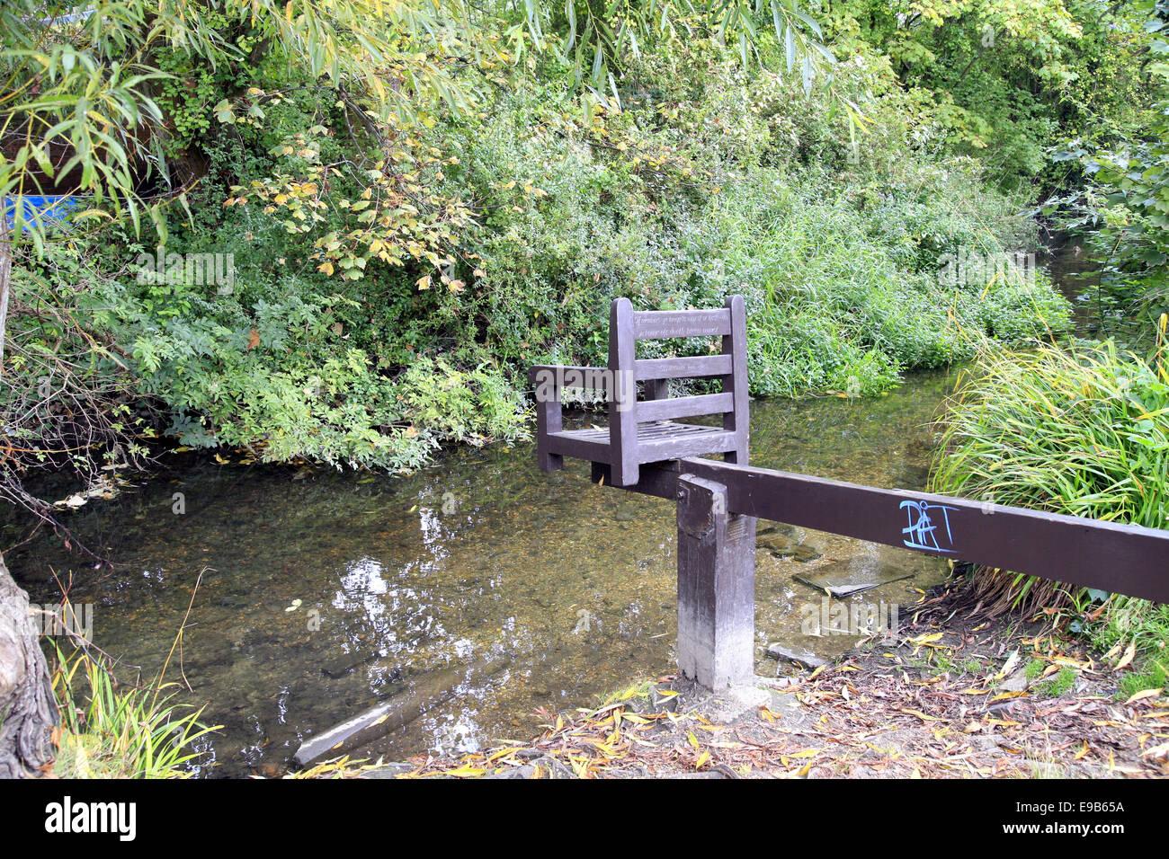 Il sito del vecchio sgabello ducking utilizzato per la punizione a