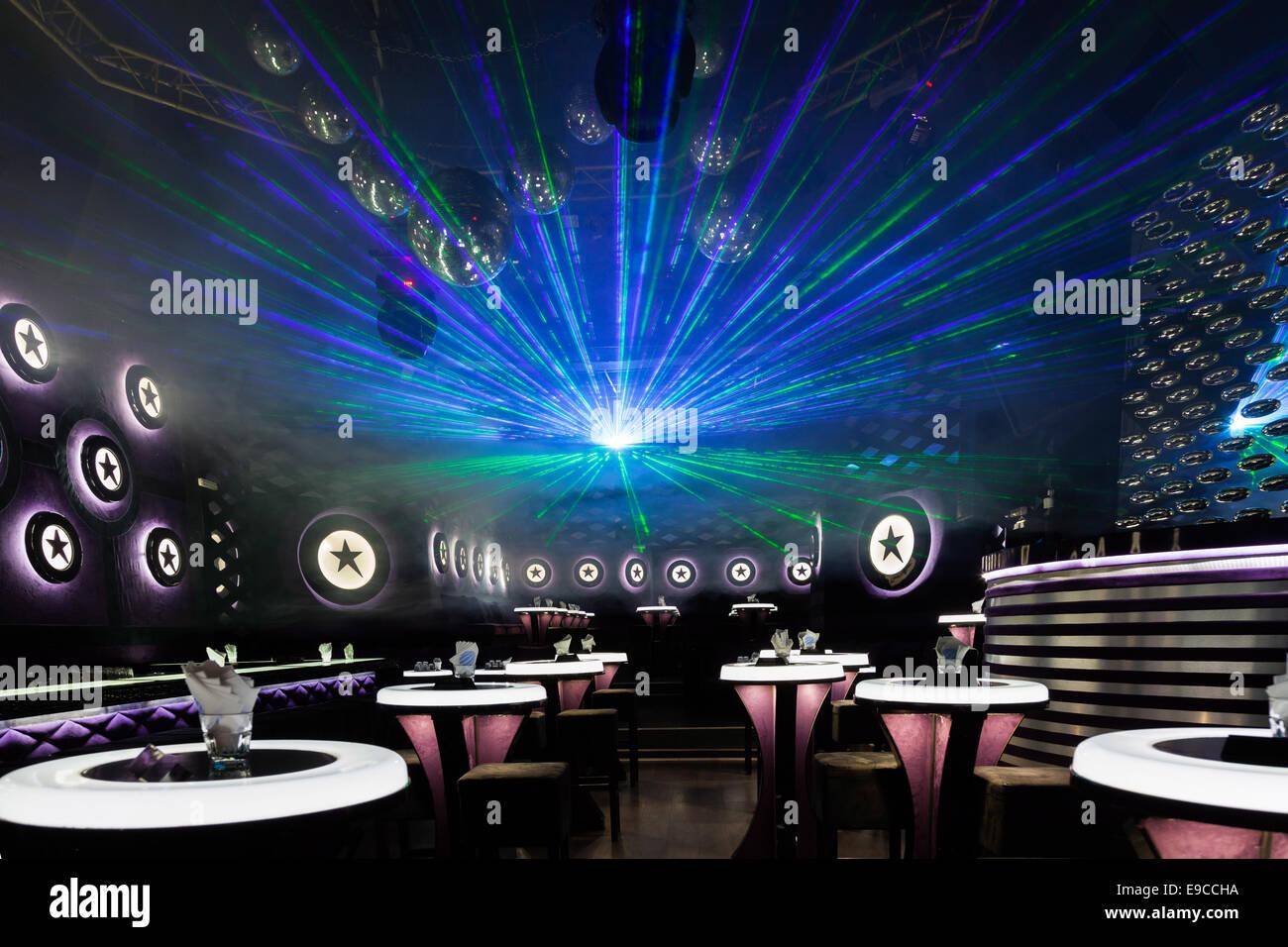 Discoteca light show luci da palco con laser foto immagine