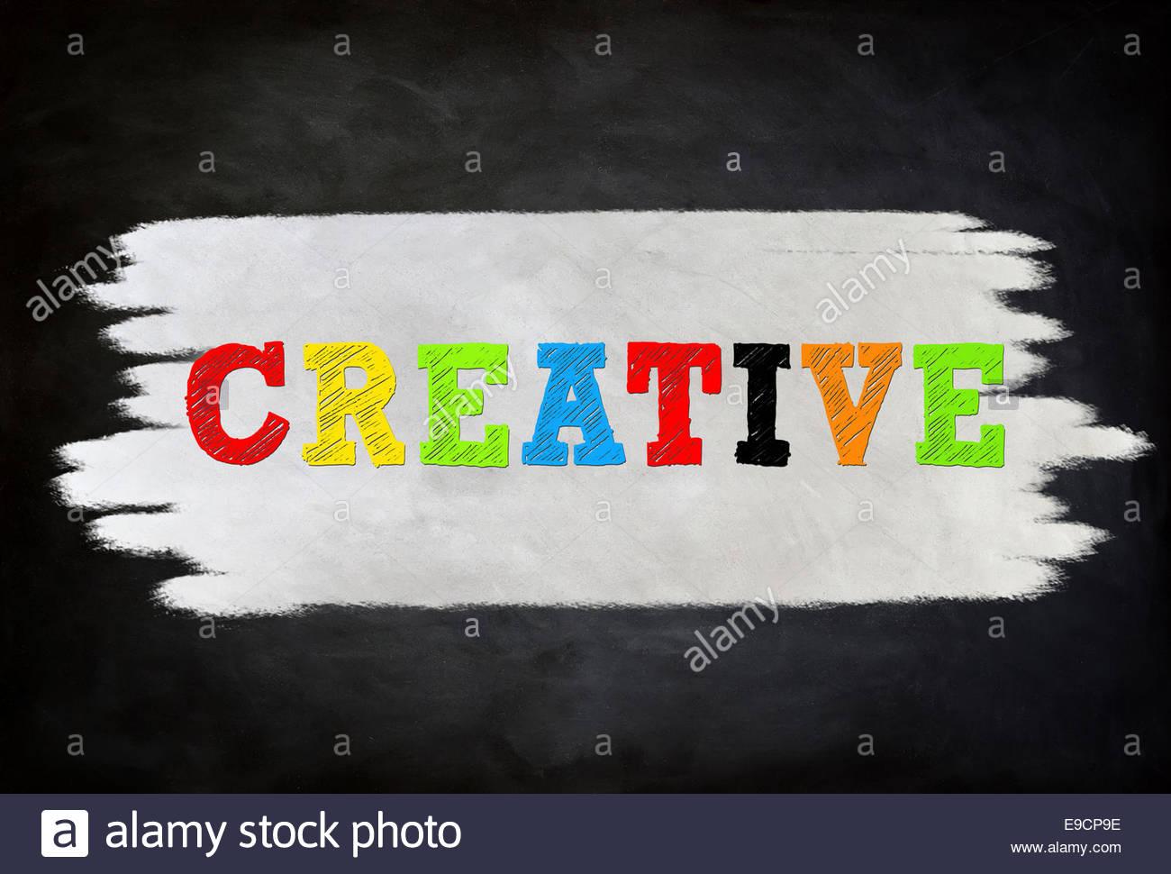CREATIVE - Concetto di lavagna Immagini Stock
