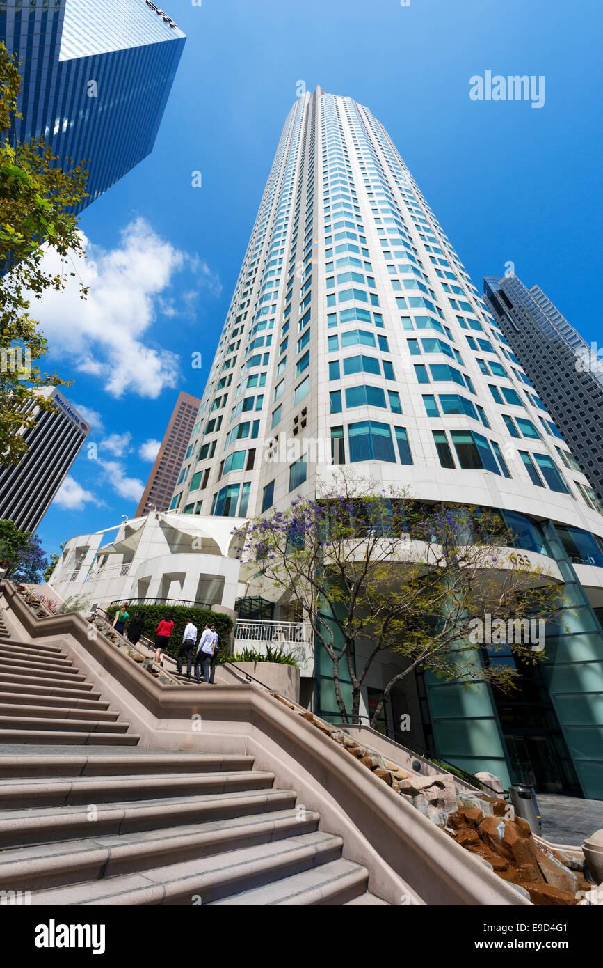 Bunker Hill passaggi e la US Bank Tower nel centro di Los Angeles, California, Stati Uniti d'America Immagini Stock