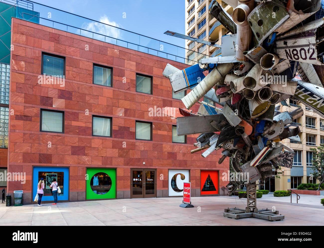 Il Museo di Arte Contemporanea (MOCA) sulla Grand Avenue nel centro di Los Angeles, California, Stati Uniti d'America Immagini Stock
