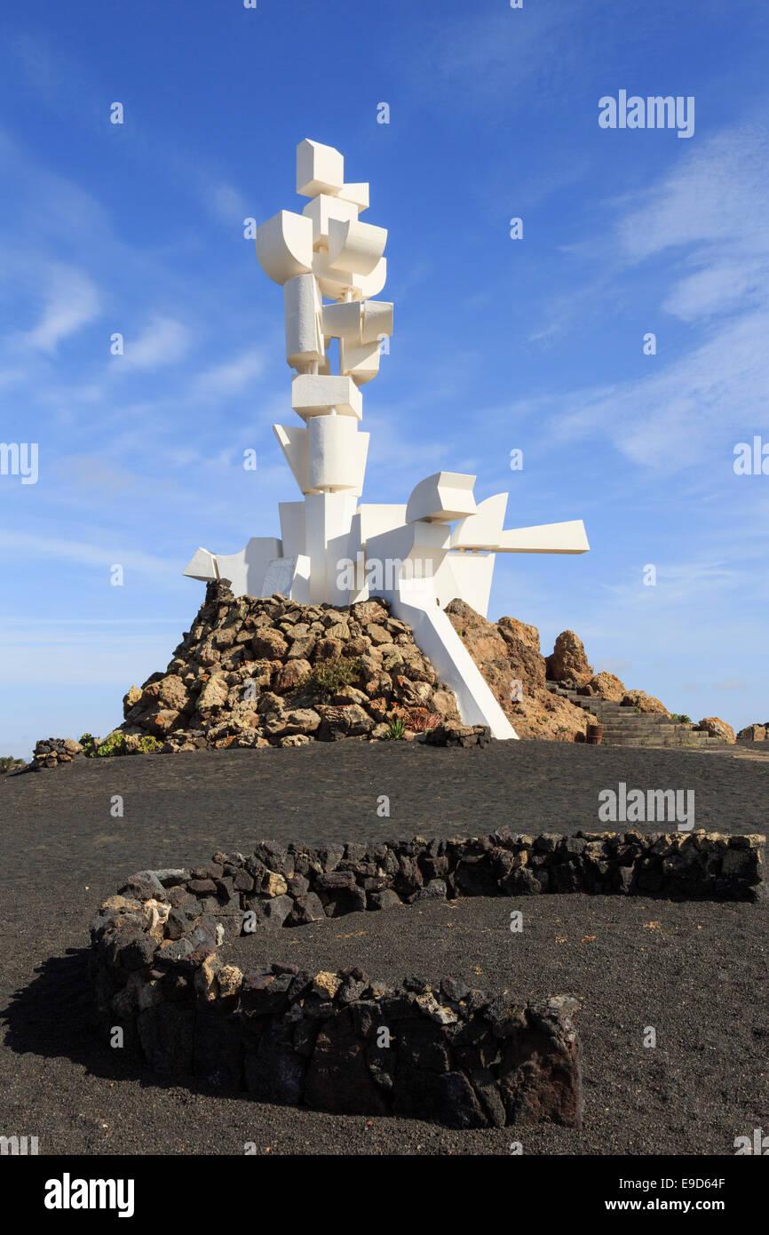 Monumento a la Fecundidad o agricoltore e la scultura di César Manrique è un monumento per gli agricoltori Immagini Stock