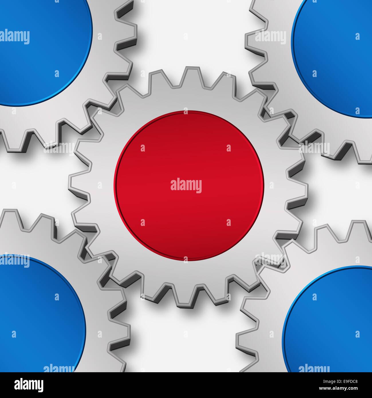 Lavoro di gruppo e sinergia Immagini Stock