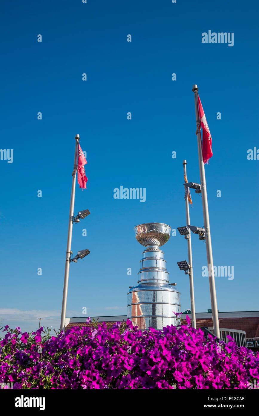 Gigante di Coppa Stanley replica, Edmonton, Alberta, Canada Immagini Stock