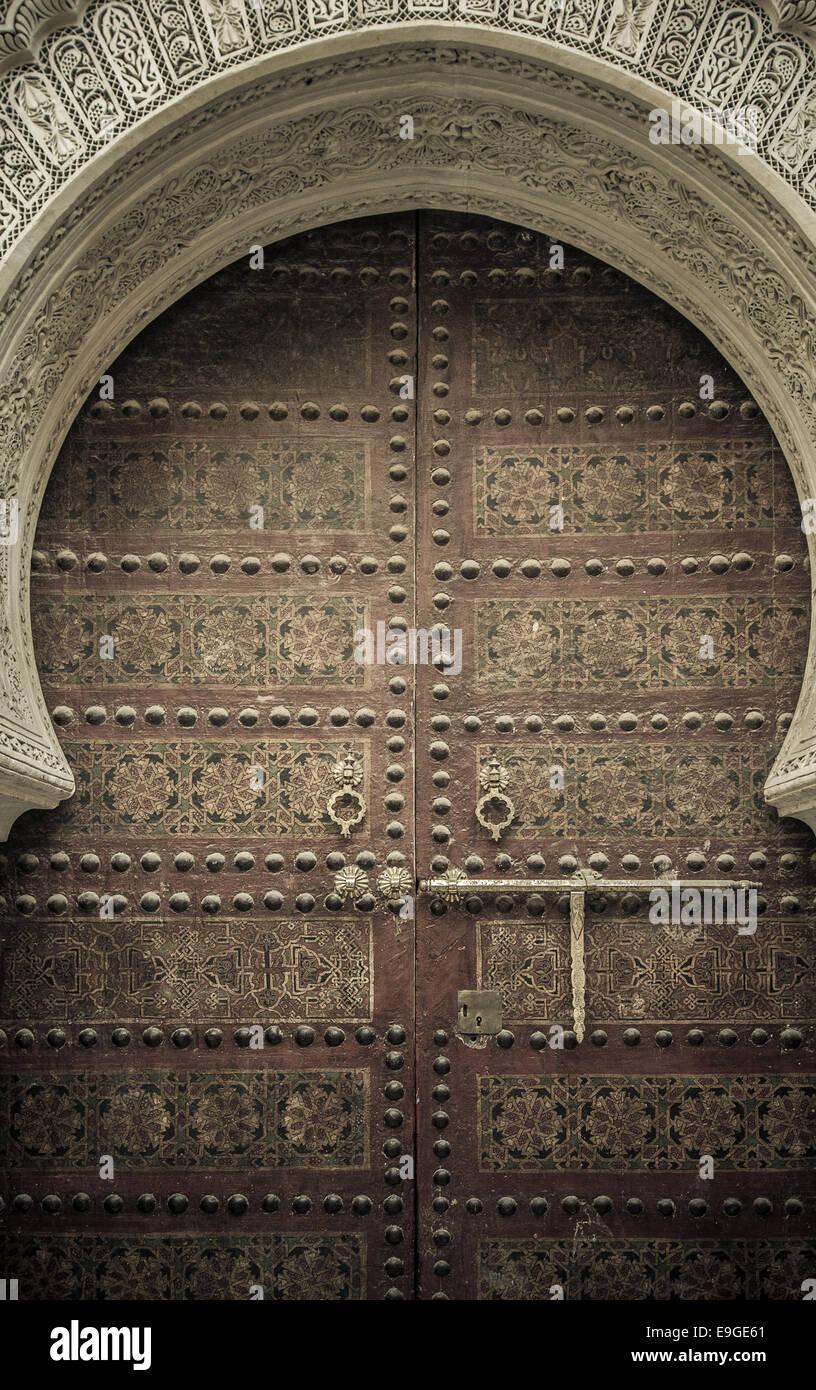 Le antiche porte, Marocco Immagini Stock